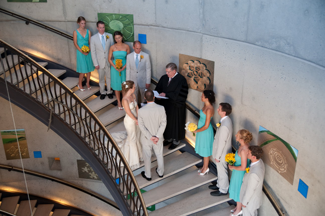 american visionary art museum wedding ceremony