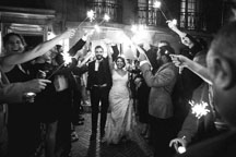 washington dc wedding photographers documenting sparkler send off