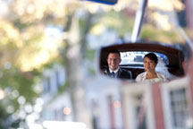maryland Wedding Photographers took this creative portraits using a mirror. contemporary photographers use a variety of angels and perspectives to make creative wedding day pictures