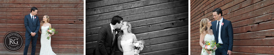 bride and groom portrait at a winery
