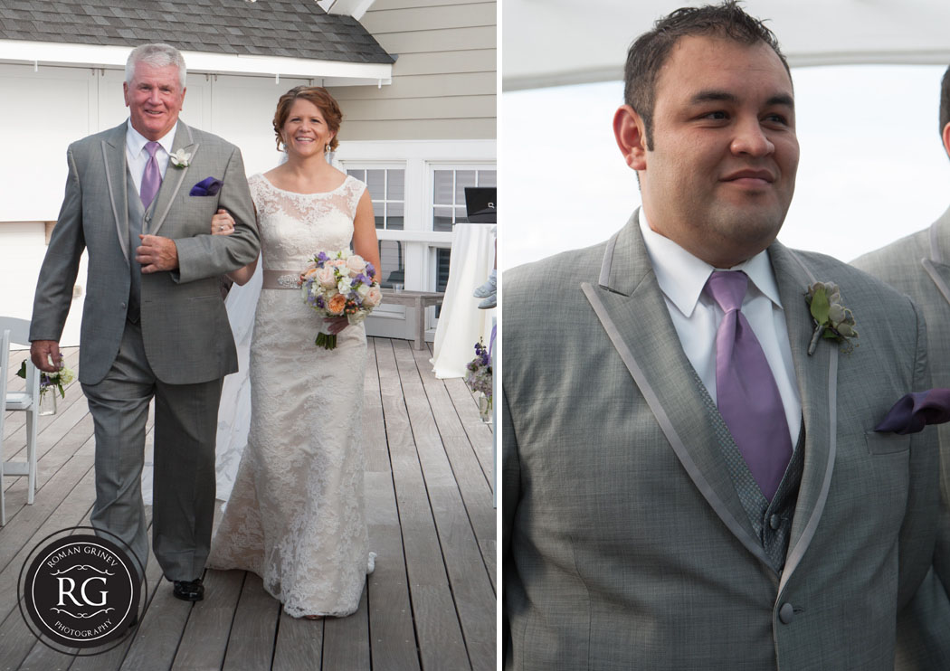 Chesapeake Bay Beach Club wedding ceremony