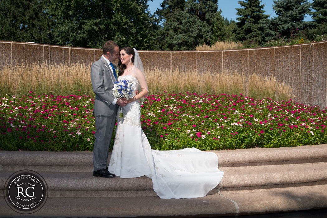 wedding portraits at Crystal City Water Fall Park