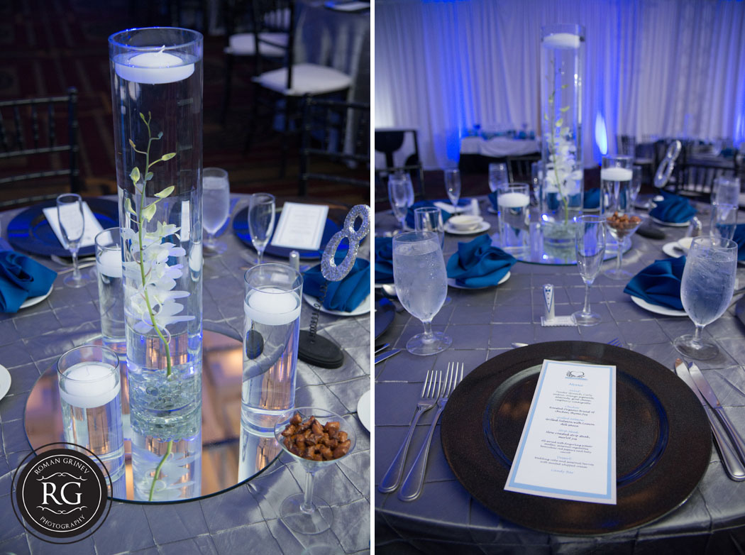 reception details at Hyatt Regency at Crystal City