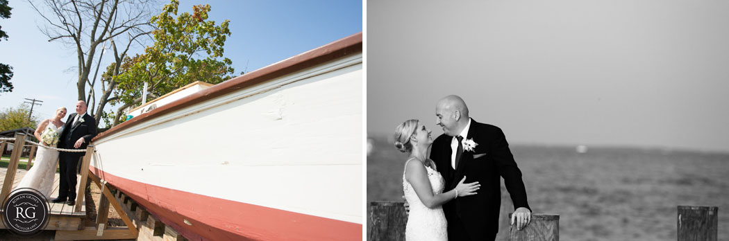 wedding portraits at Annapolis Maritime Museum