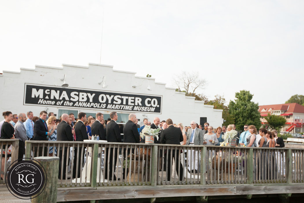wedding ceremony at Annapolis Maritime Museum