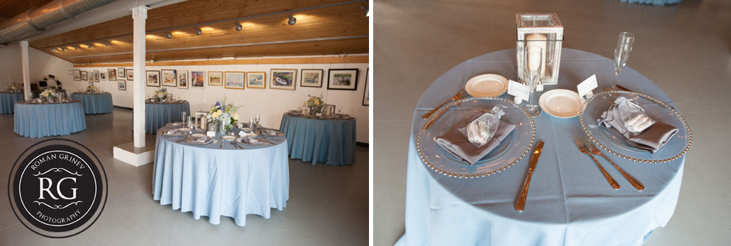 wedding details at Annapolis Maritime Museum