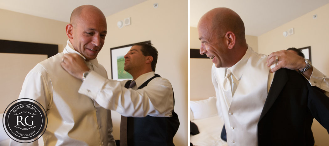 baltimore wedding photographer documenting groom getting ready