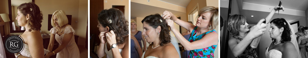 baltimore wedding photographer documenting bride getting ready