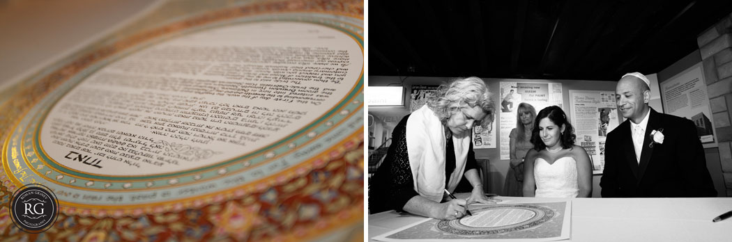 ketubah signing at Baltimore Museum of Industry