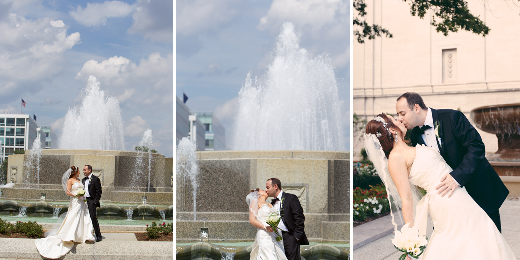 Bride and groom portraits in Washington DC