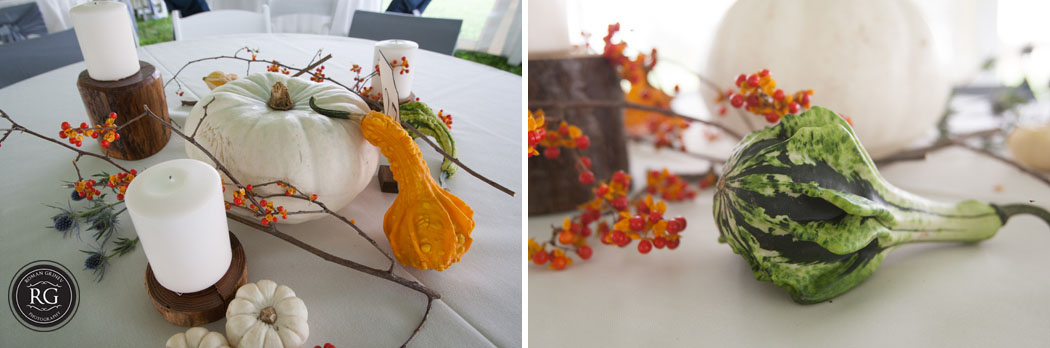 fall wedding center pieces