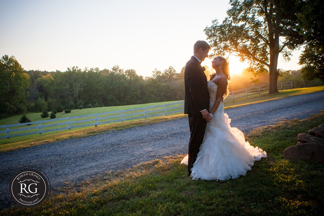 Virginia Wedding Photographers capturing bride and groom portraits at The Briar Patch Bed and Breakfast