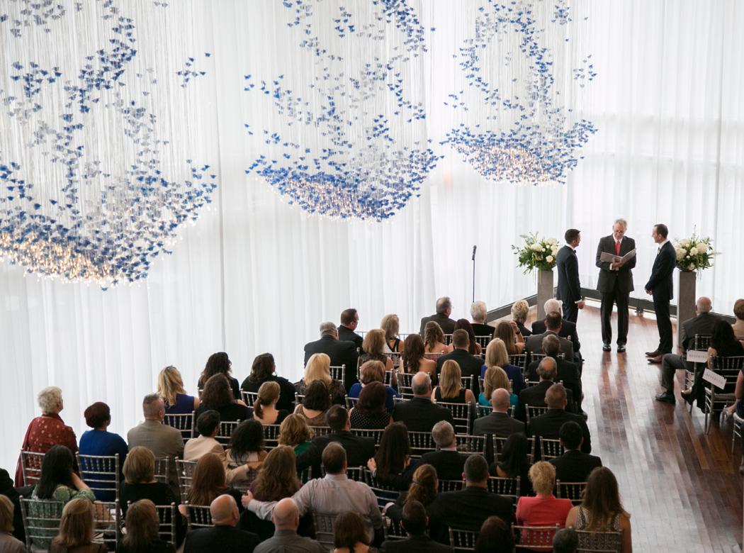 wedding ceremony at Sequoia Restaurant, Washington DC