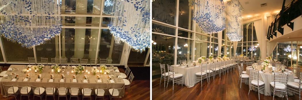 wedding reception set up and decor at Sequoia Restaurant, Washington DC