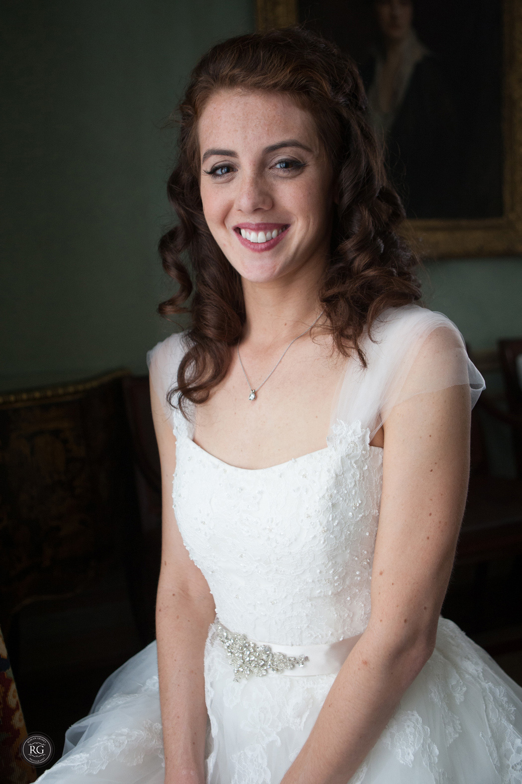 bridal portrait at Meridian House, Washington DC