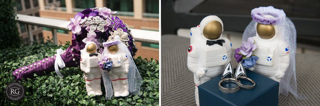 space theme wedding details